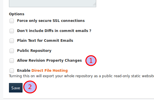 Save Repository Settings